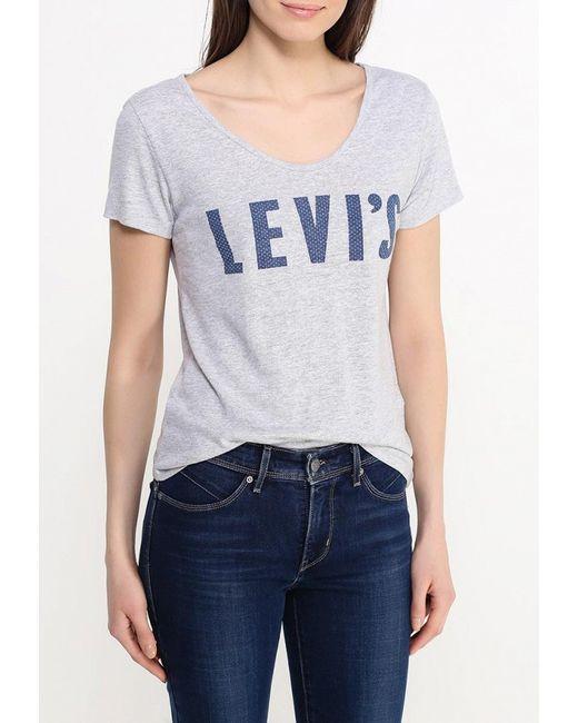 Футболка Levi's®                                                                                                              серый цвет