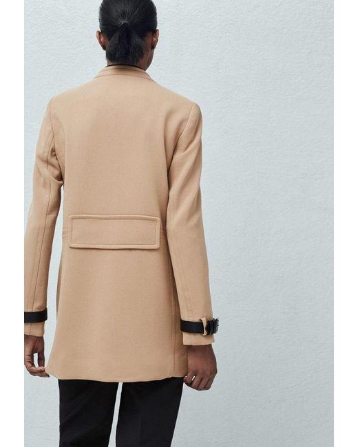 Пальто Mango                                                                                                              бежевый цвет
