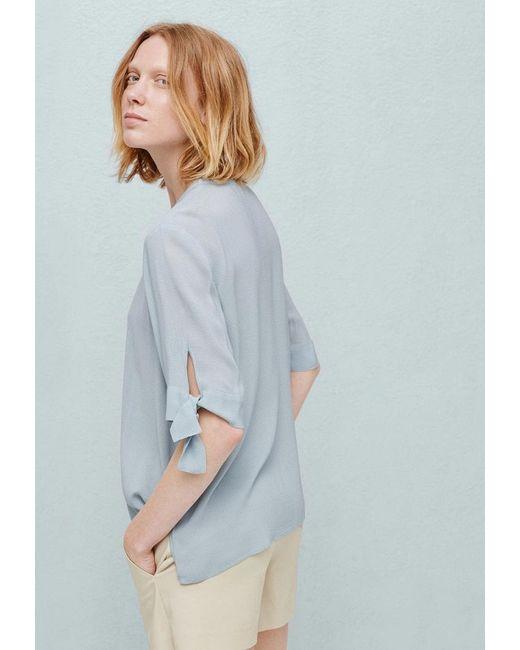 Блуза Mango                                                                                                              голубой цвет