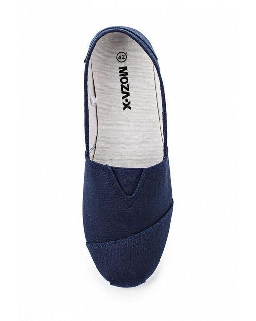 Слипоны Moza-X                                                                                                              синий цвет