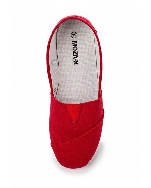 Слипоны Moza-X                                                                                                              красный цвет