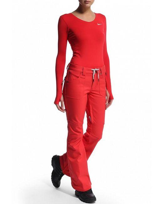 Брюки Горнолыжные Nike                                                                                                              красный цвет