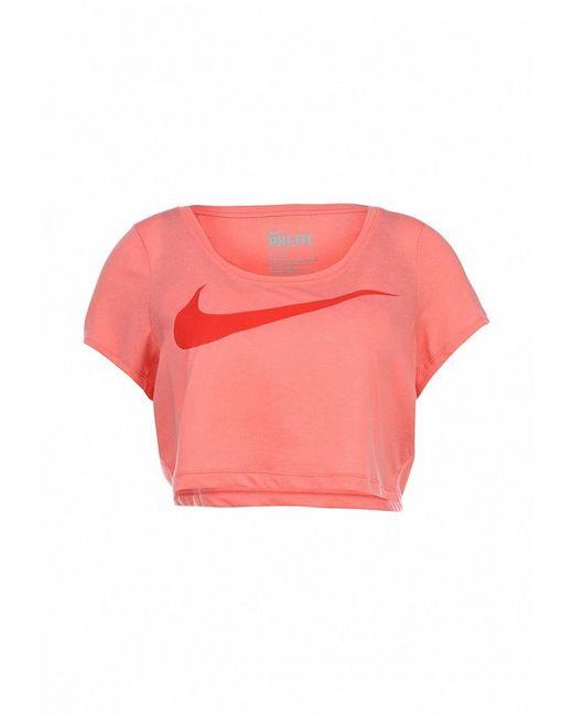 Футболка Спортивная Nike                                                                                                              розовый цвет