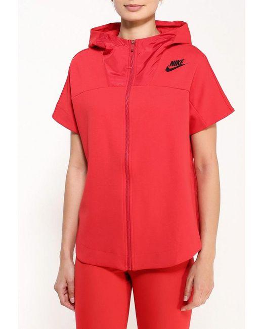 Толстовка Nike                                                                                                              красный цвет