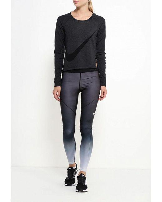 Лонгслив Спортивный Nike                                                                                                              серый цвет