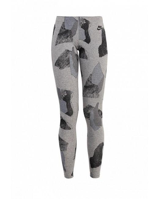 Леггинсы Nike                                                                                                              серый цвет