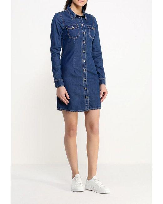 Платье Джинсовое Only                                                                                                              синий цвет