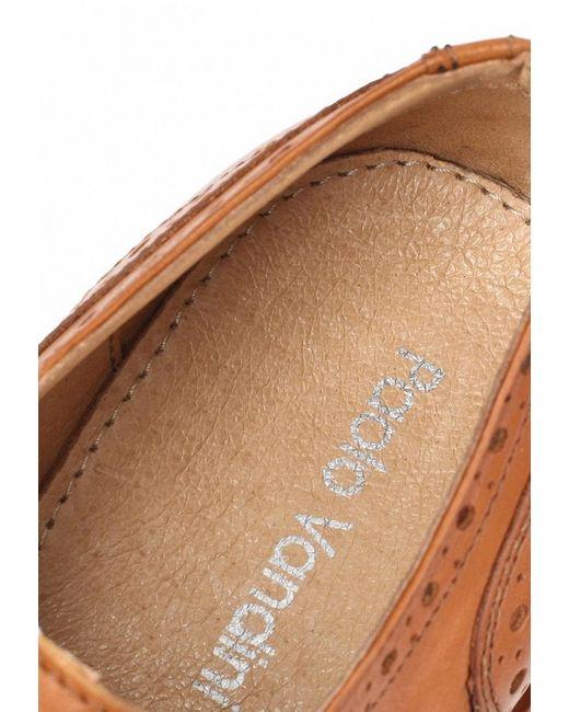 Туфли Paolo Vandini                                                                                                              коричневый цвет