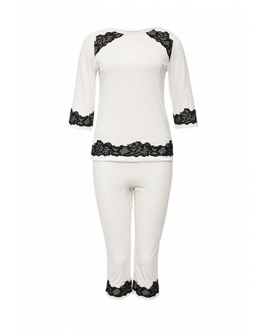 Пижама Passion                                                                                                              белый цвет
