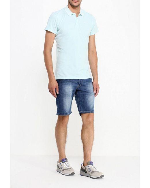 Шорты Джинсовые Pepe Jeans London                                                                                                              синий цвет