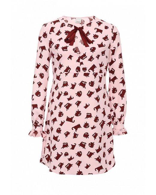 Платье Pinko                                                                                                              розовый цвет