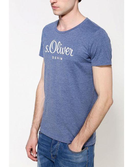 Футболка s.Oliver Denim                                                                                                              синий цвет