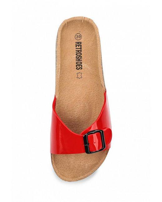 Шлепанцы Retro Shoes                                                                                                              красный цвет