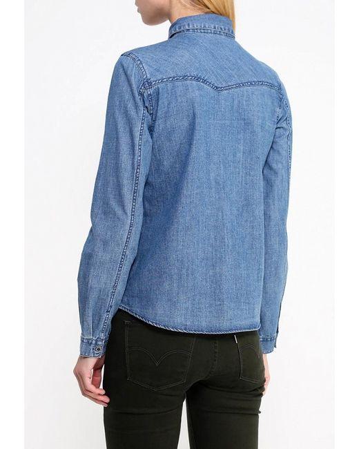 Рубашка Джинсовая Roxy                                                                                                              синий цвет