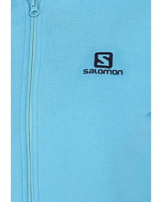 Толстовка Salomon                                                                                                              голубой цвет
