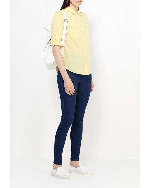 Рубашка Sela                                                                                                              желтый цвет