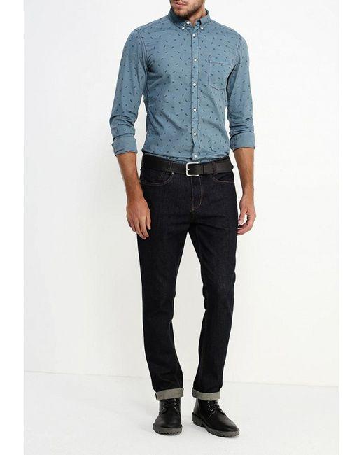 Рубашка Q/S designed by                                                                                                              синий цвет