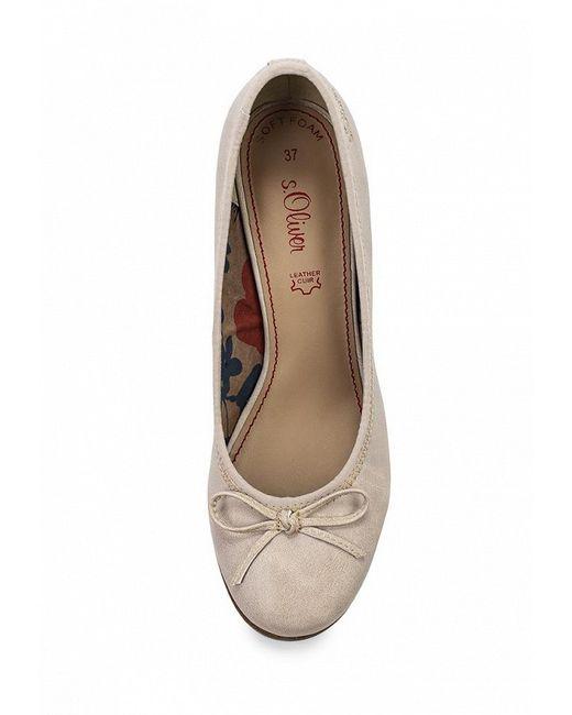 Туфли s.Oliver                                                                                                              бежевый цвет