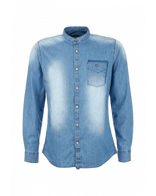 Рубашка Джинсовая Springfield                                                                                                              синий цвет
