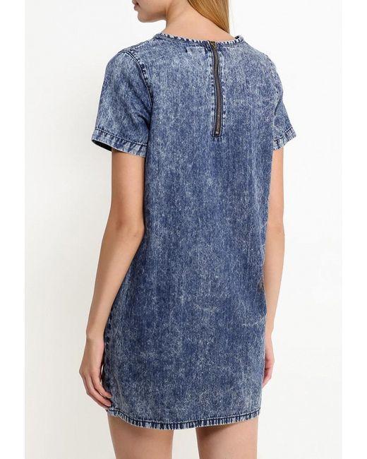 Платье Джинсовое Stella                                                                                                              синий цвет