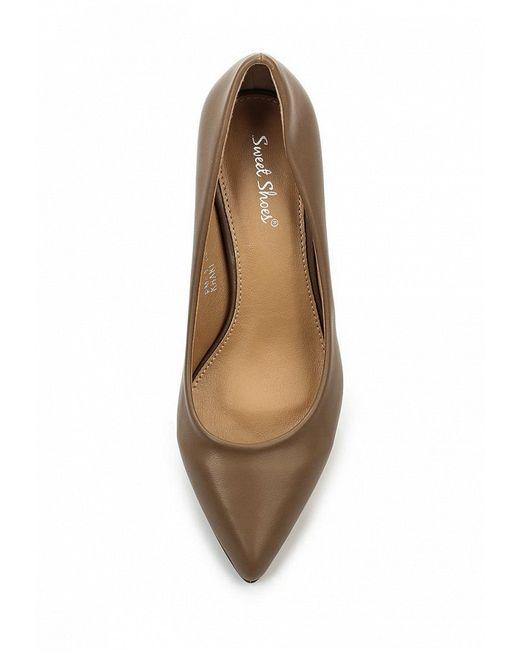 Туфли SWEET SHOES                                                                                                              бежевый цвет