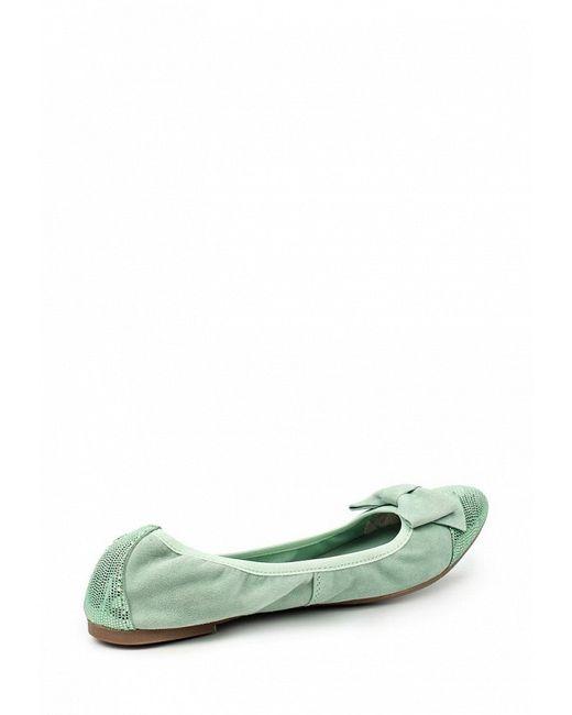 Балетки Tamaris                                                                                                              зелёный цвет