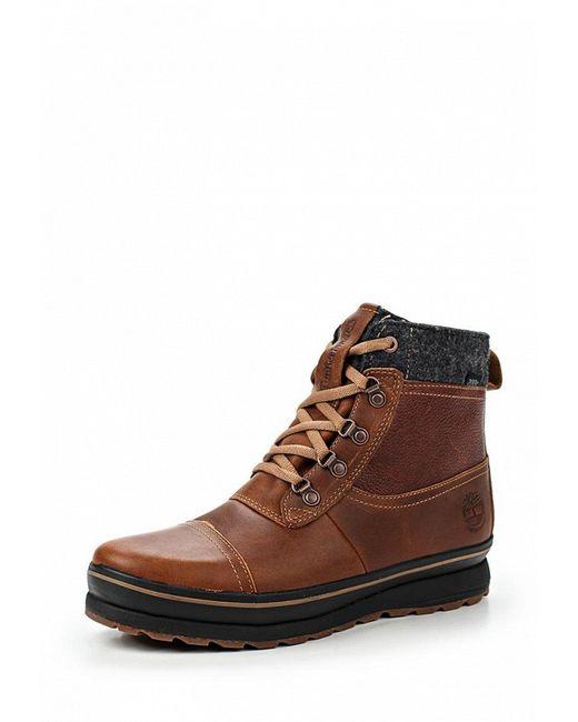 Ботинки Timberland                                                                                                              коричневый цвет