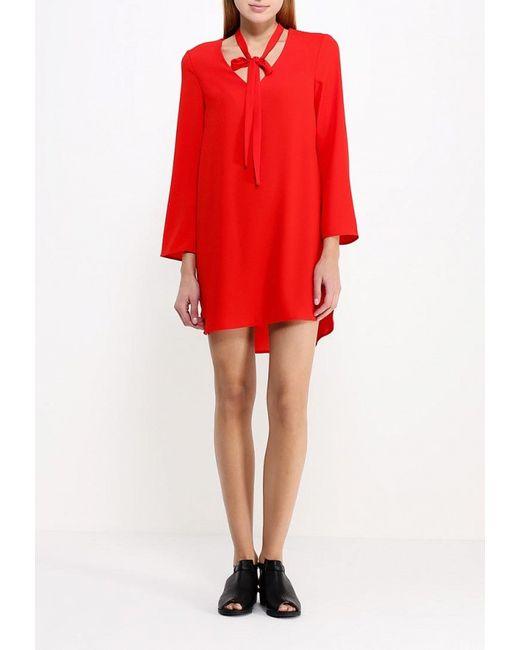 Платье Topshop                                                                                                              красный цвет