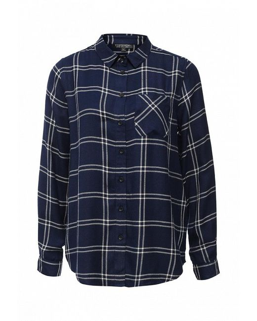 Рубашка Topshop                                                                                                              синий цвет