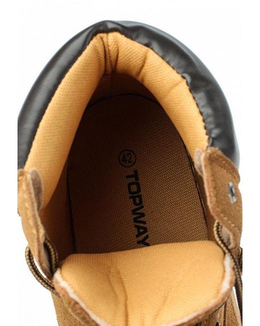 Ботинки Topway                                                                                                              Горчичный цвет