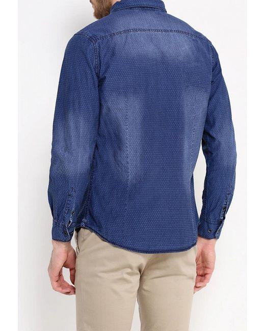 Рубашка Джинсовая Tony Backer                                                                                                              синий цвет