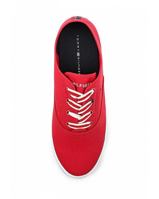 Кеды Tommy Hilfiger                                                                                                              красный цвет