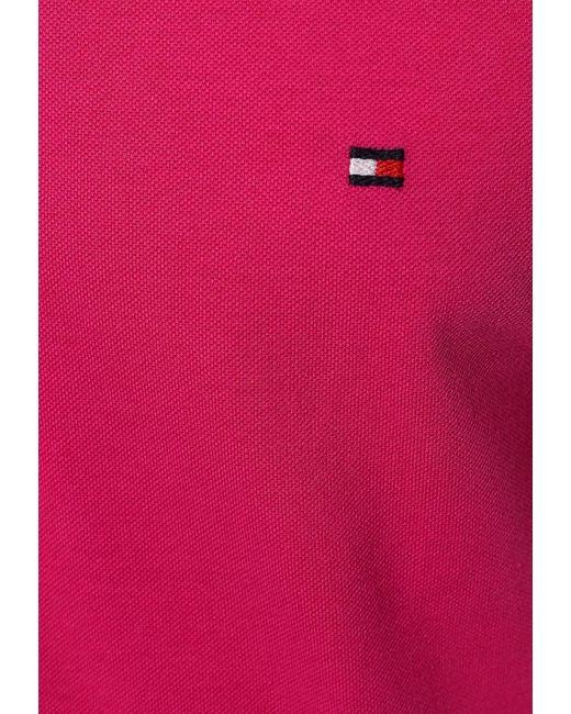Поло Tommy Hilfiger                                                                                                              розовый цвет