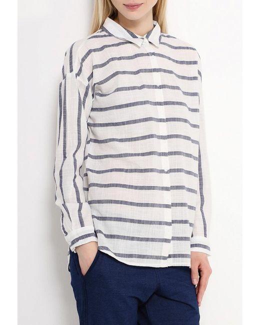Рубашка Tom Tailor Denim                                                                                                              белый цвет