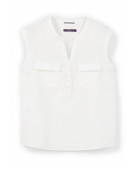 Блуза Violeta by Mango                                                                                                              белый цвет