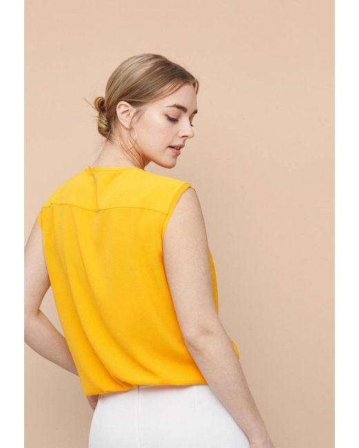 Топ Violeta by Mango                                                                                                              желтый цвет