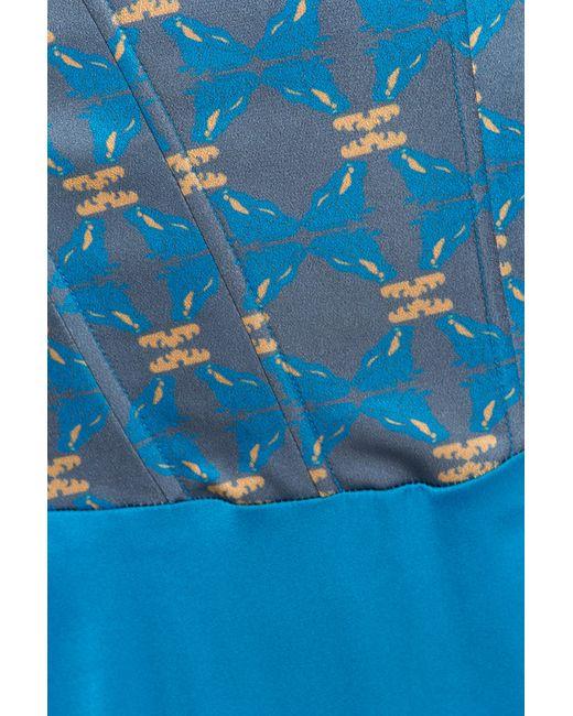 Платье Анна Чапман                                                                                                              голубой цвет