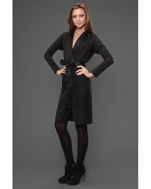 Платье С Поясом Saint Laurent                                                                                                              чёрный цвет