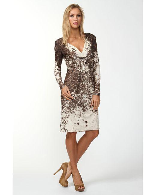 Платье Джерси Roberto Cavalli                                                                                                              коричневый цвет