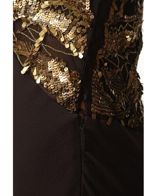 Платье Вечернее Roberto Cavalli                                                                                                              коричневый цвет