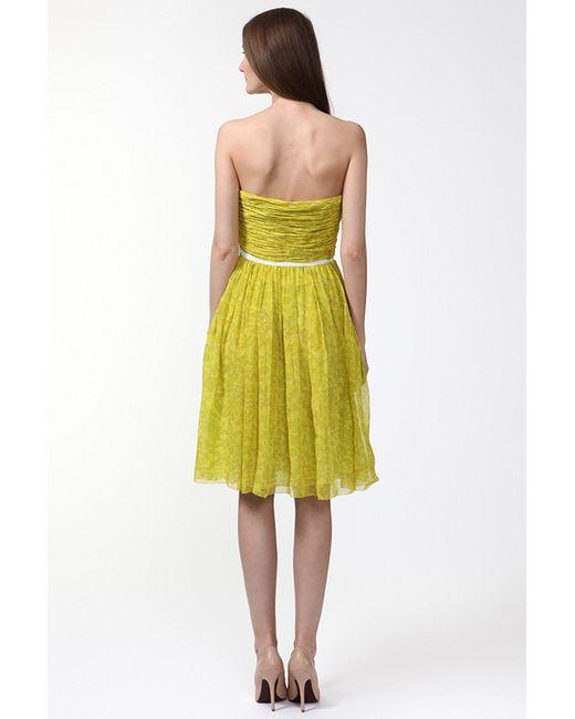 Платье Giambattista Valli                                                                                                              желтый цвет