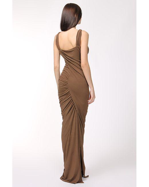 Платье Вечернее Donna Karan                                                                                                              коричневый цвет