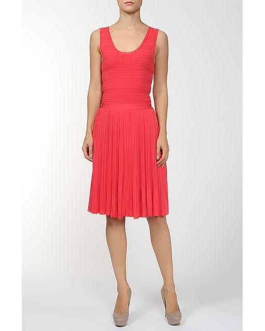 Платье Oscar de la Renta                                                                                                              красный цвет
