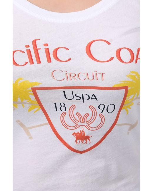 Футболка U.S. Polo Assn.                                                                                                              белый цвет