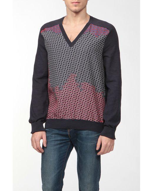 Пуловер Вязаный Lanvin                                                                                                              синий цвет