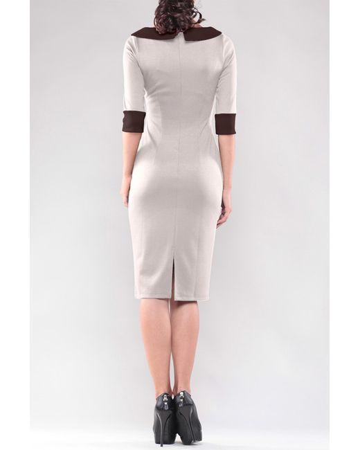 Платье Maurini                                                                                                              коричневый цвет