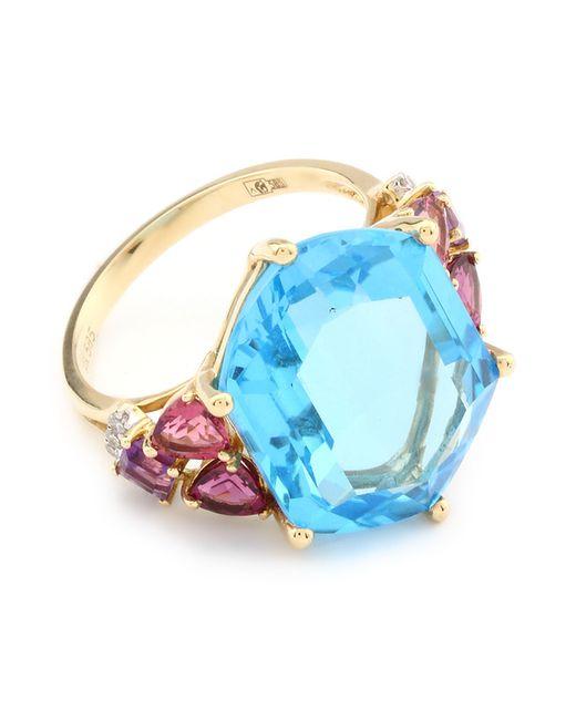 Кольцо Magic Diamonds                                                                                                              желтый цвет