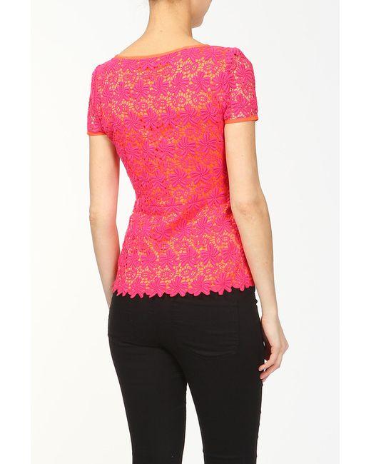 Блуза Elie Tahari                                                                                                              розовый цвет