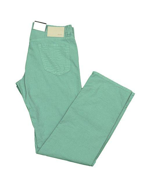 Джинсы BOSS                                                                                                              зелёный цвет