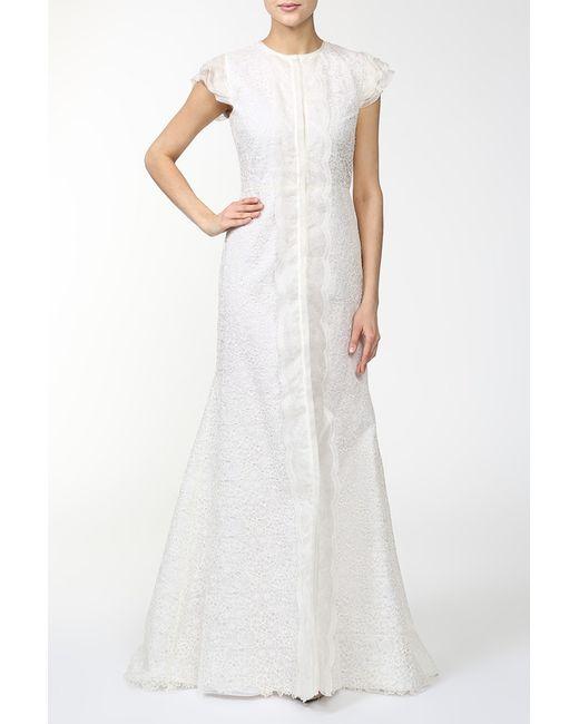 Платье Вечернее Valentino                                                                                                              бежевый цвет